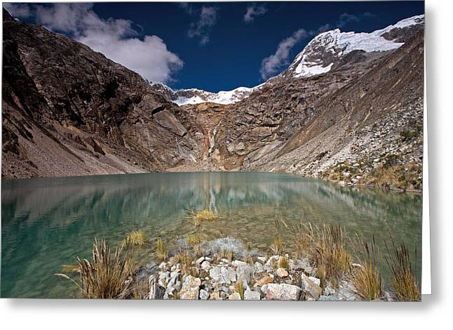 Emerald Mountain Lake Greeting Card