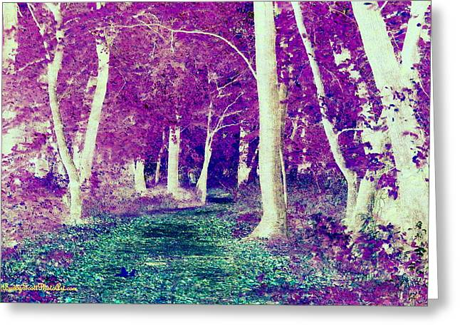 Emerald Path Greeting Card