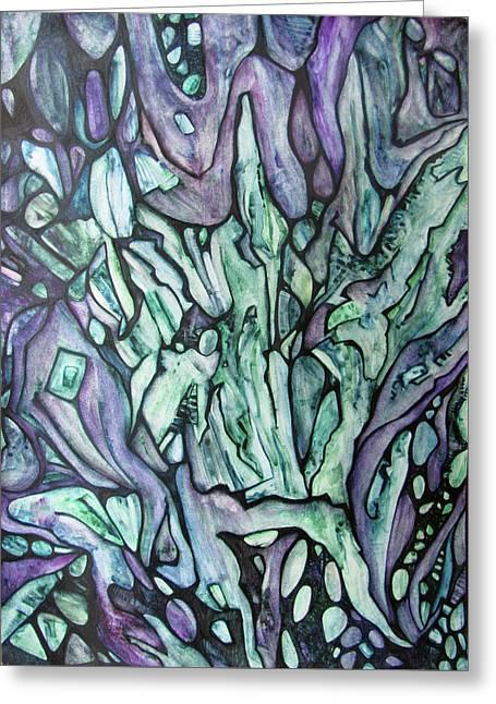 Emerald Phoenix Greeting Card