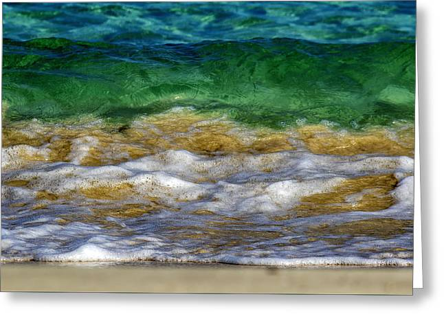 Emerald Sea Greeting Card by Stelios Kleanthous