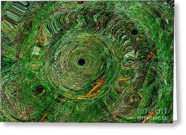 Greeting Card featuring the photograph Emerald Swirls by Kathie Chicoine