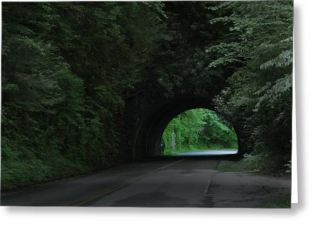 Emerald Tunnel Greeting Card by Robert Clayton