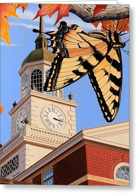 Emergence Of The Butterfly Greeting Card by Christopher Spicer
