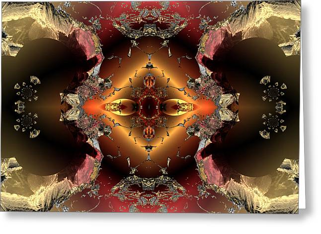 Algorithmic Abstract Greeting Cards - Emergence versus containment Greeting Card by Claude McCoy