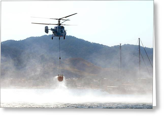 Emergency Helicopter Greeting Card by Svetlana Sewell