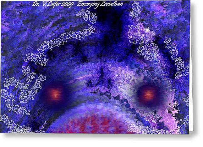 Emerging Of Leviathan Greeting Card by Dr Loifer Vladimir
