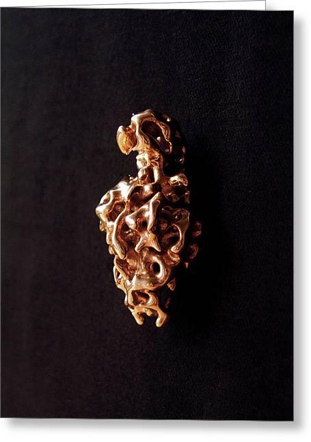 Emerging Venus Of Willendorf - Left Side - B Greeting Card by Sora Neva