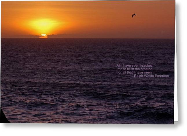 Emerson Sunset Greeting Card by Scott Gould