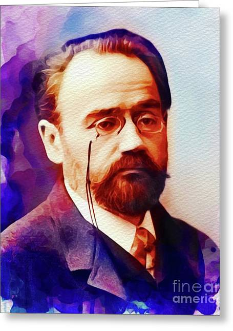 Emile Zola, Literary Legend Greeting Card