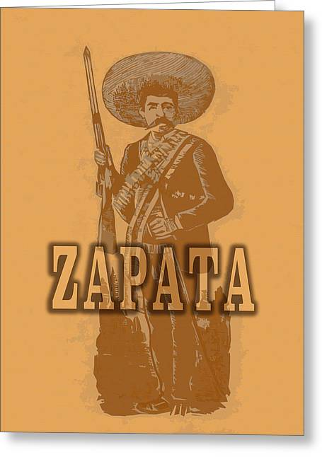 Emiliano Zapata Greeting Card by Totto Ponce