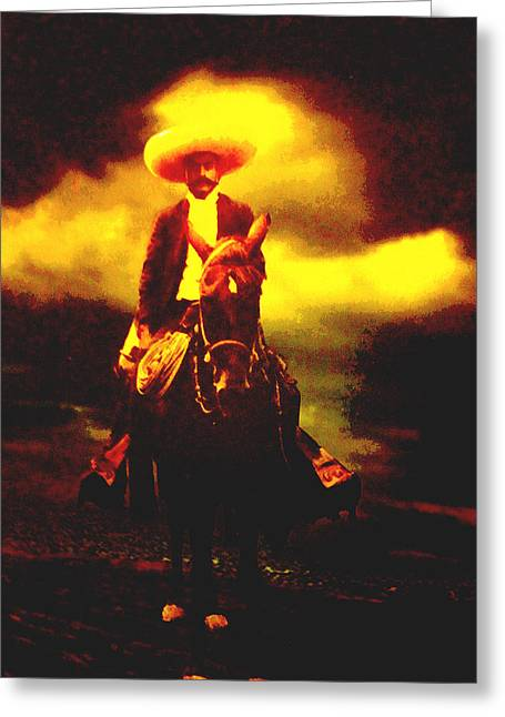 Emiliano Zapata Y Caballo Greeting Card by Totto Ponce