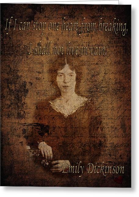 Emily Dickinson 2 Greeting Card