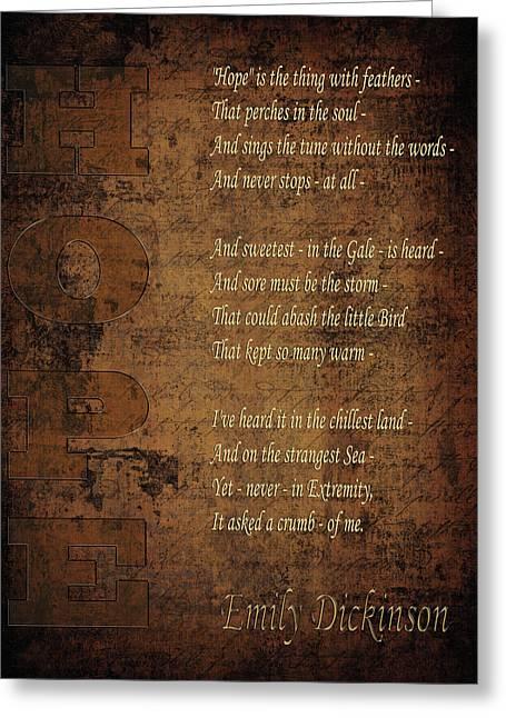 Emily Dickinson 5 Greeting Card