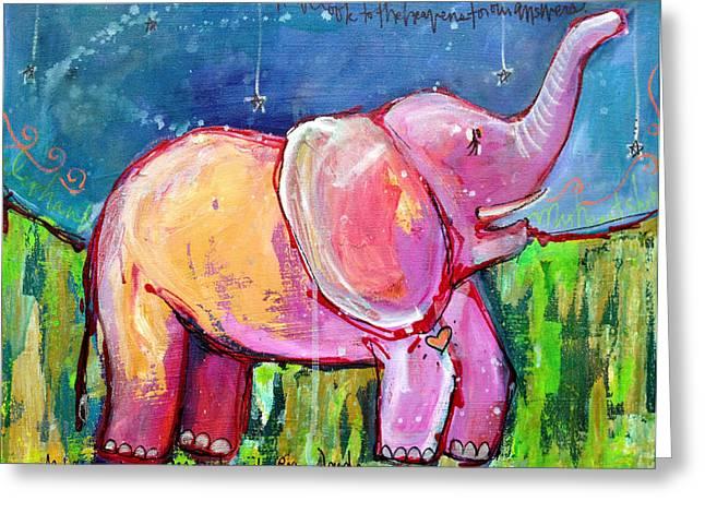 Emily's Elephant 2 Greeting Card