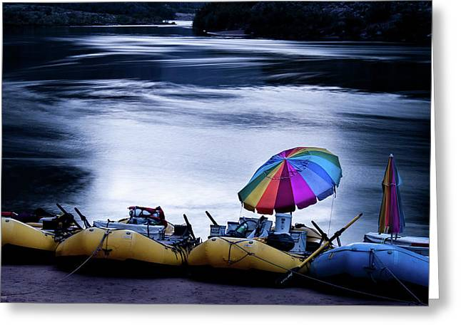 Greeting Card featuring the photograph Eminence Camp Umbrella  by Britt Runyon