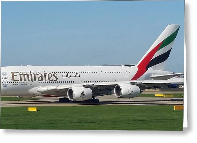 Emirates Airline Airbus A380-800 Greeting Card