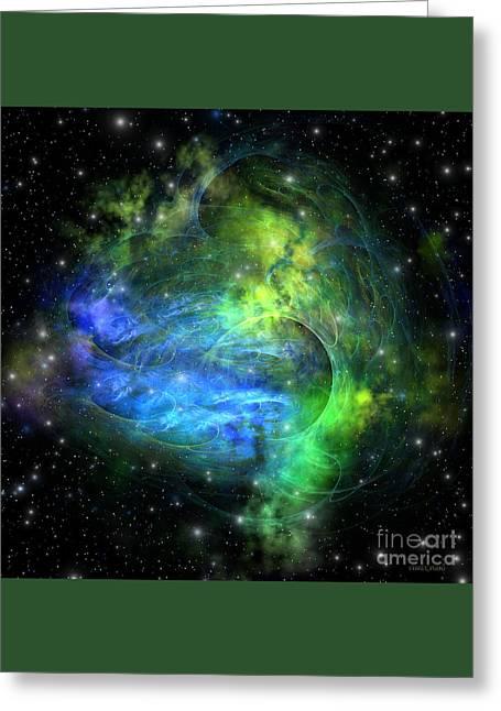 Emission Nebula Greeting Card