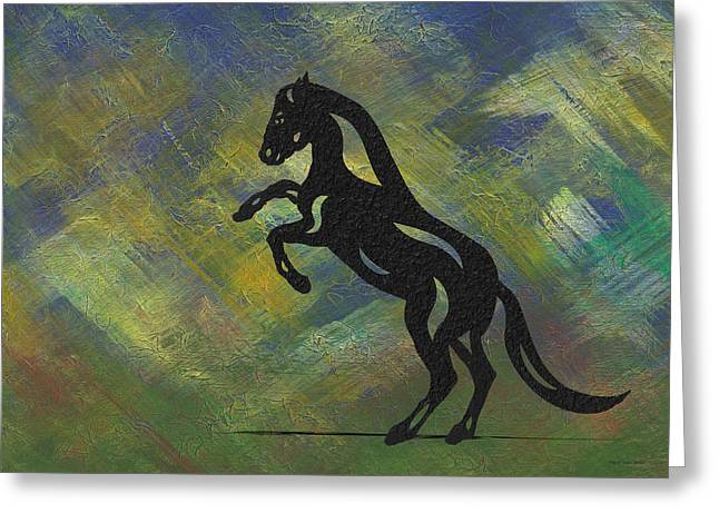 Emma - Abstract Horse Greeting Card