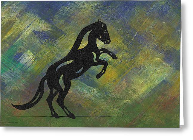 Emma II - Abstract Horse Greeting Card by Manuel Sueess