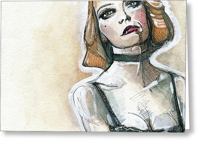 Emma In Choker Greeting Card