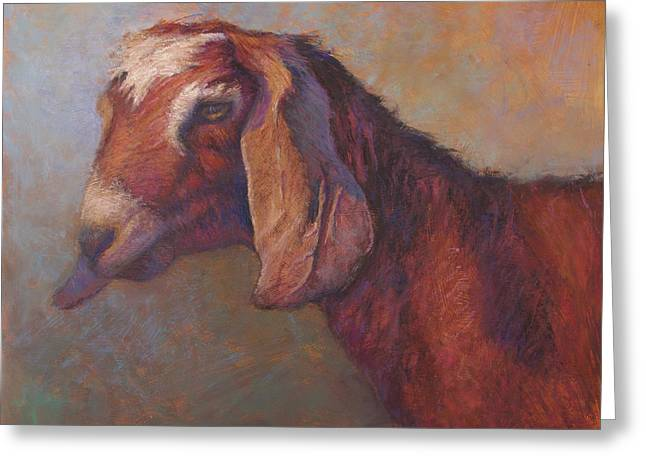 Farm Animals Pastels Greeting Cards - Emma Sundara Greeting Card by Susan Williamson