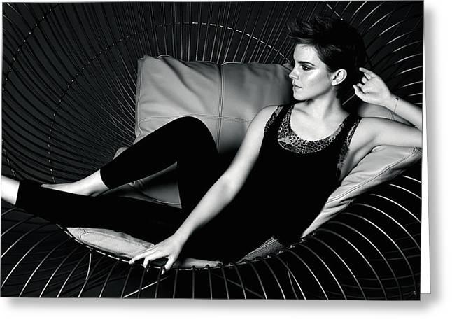 Emma Watson 313 Greeting Card by F S