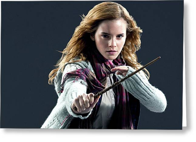 Emma Watson Hp Deathly Hallows Part 2 Greeting Card by F S