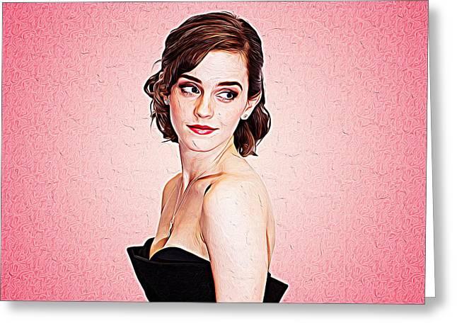 Emma Watson Greeting Card by Iguanna Espinosa