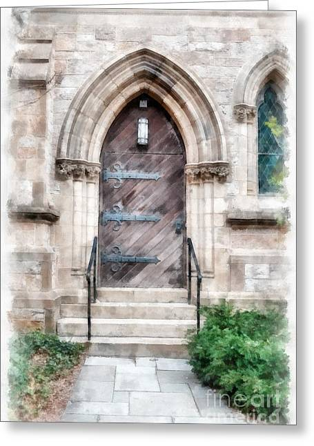 Emmanuel Church Newbury Street Boston Ma Greeting Card by Edward Fielding