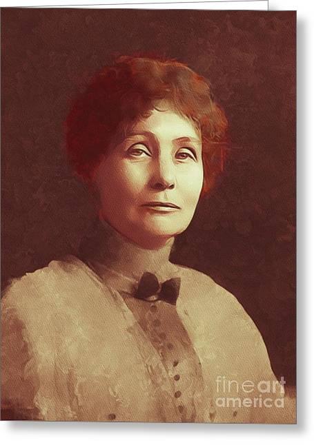 Emmeline Pankhurst, Suffragette Greeting Card
