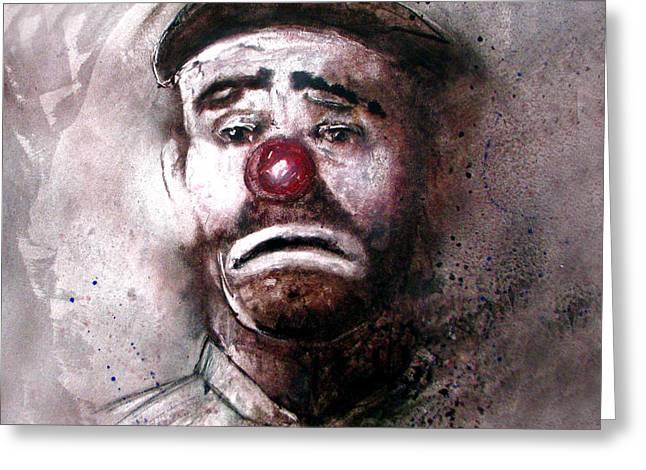 Emmit Kelly Clown Greeting Card
