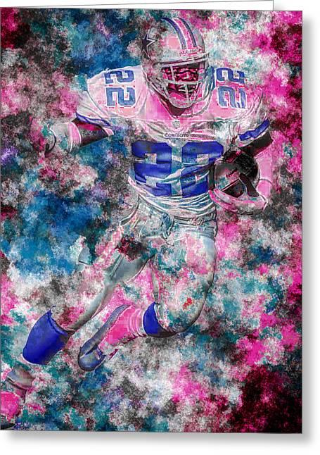 Emmitt Smith Dallas Cowboys Digital Painting 14 Greeting Card