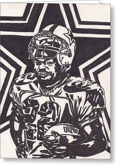 Emmitt Smith Greeting Card by Jeremiah Colley