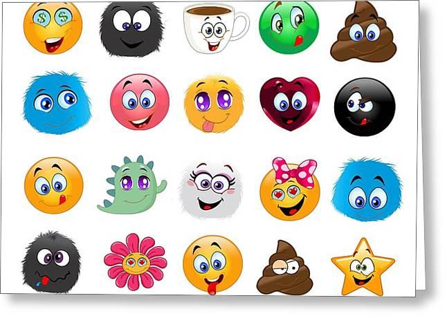 Emoji - Emoticons Greeting Card