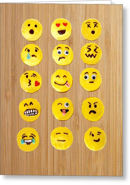 Emoticon Cookies Greeting Card