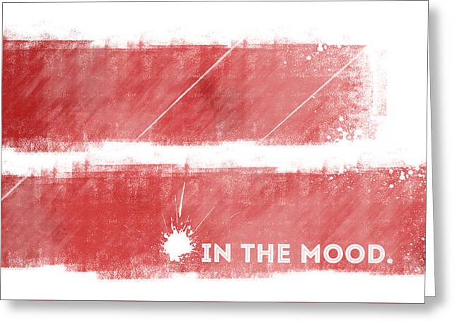 Emotional Art In The Mood Greeting Card by Melanie Viola