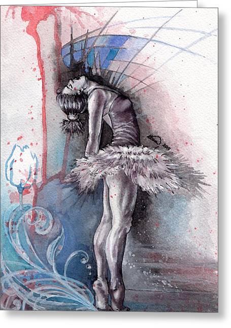 Emotional Ballet Dance Greeting Card