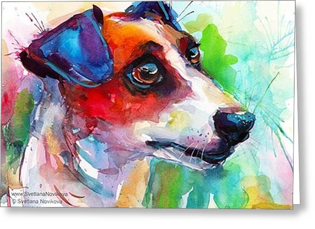 Emotional Jack Russell Terrier Greeting Card