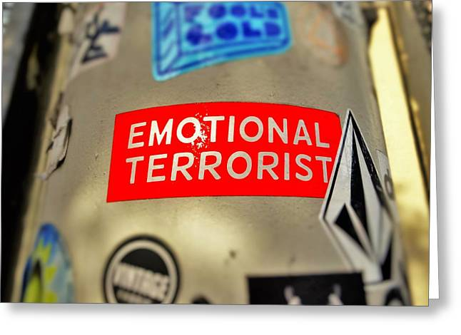 Emotional Terrorist In New York  Greeting Card