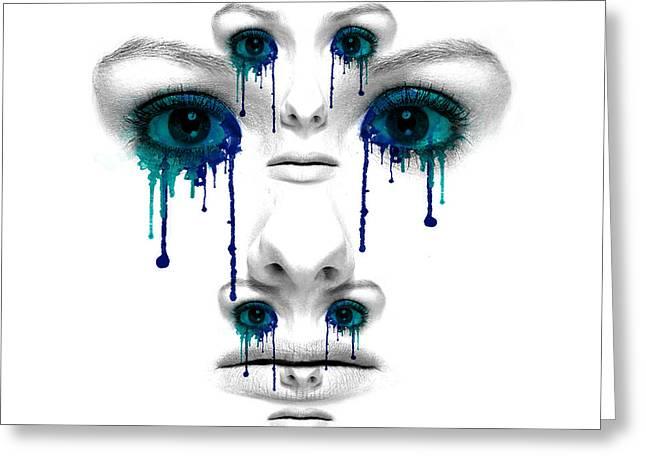 Emotional Trauma Greeting Card by Solomon Barroa