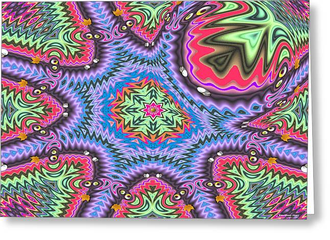 Greeting Card featuring the digital art Emotions 1041 by Brian Gryphon