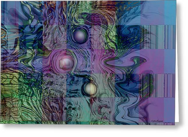 Emotions Block Greeting Card by Linda Sannuti
