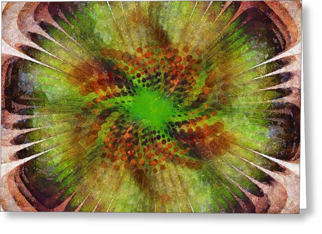 Empathic Reality Flower  Id 16164-033134-86030 Greeting Card by S Lurk