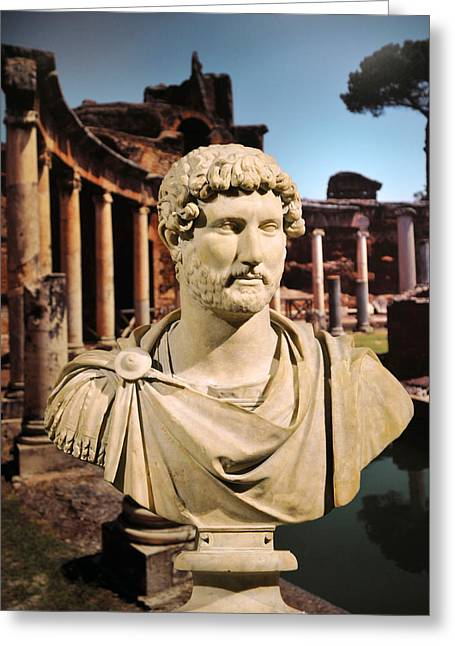 Selcuk Greeting Cards - Emperor Hadrian Greeting Card by Michael Oakes