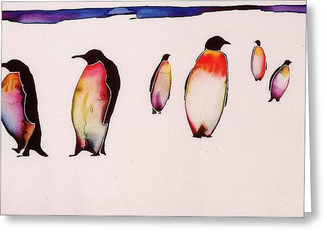 Emperors On Ice Greeting Card by Carolyn Doe