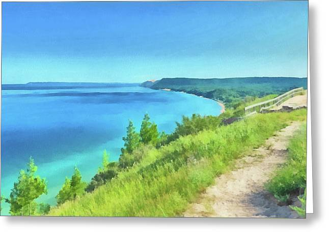 Greeting Card featuring the digital art Empire Bluffs  by Digital Photographic Arts