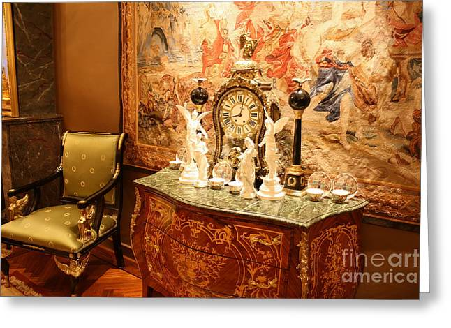 Empire Cabinet Greeting Card by Patricia Hofmeester