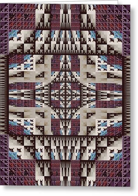 Empire Quilt Greeting Card by Ricky Kendall