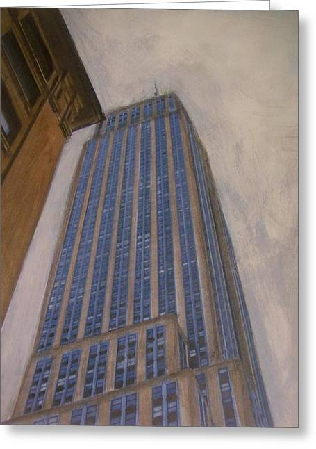 Empire State Building 2 Greeting Card by Anita Burgermeister