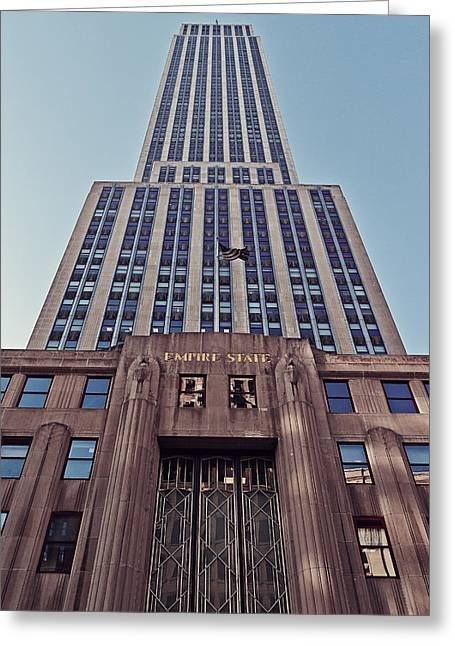 Iconic Radio Greeting Cards - Empire State Building Greeting Card by Benjamin Matthijs